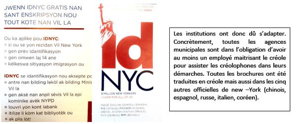 Brochure créole New York