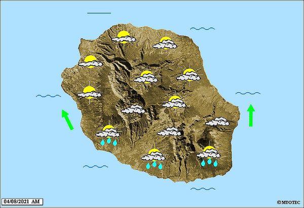 Carte météo 4 août 2021