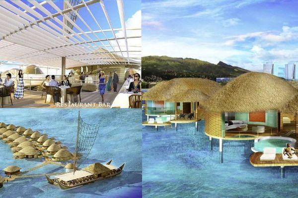 Projet hawaien Tahiti Mahana beach 1