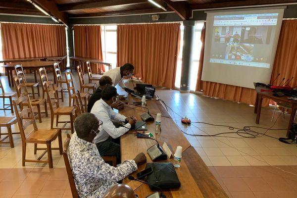 Visio-conférence entre les maires du François et de Sinnamary