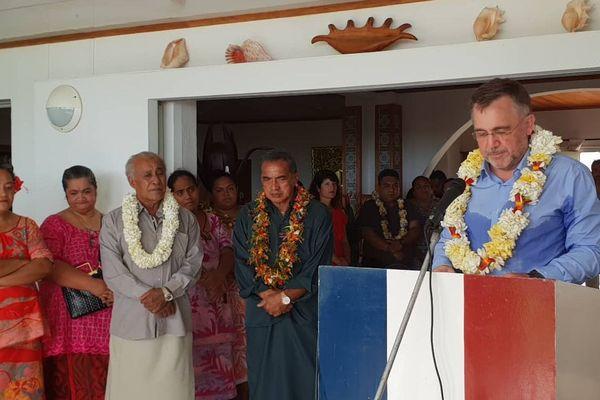 Le préfet de Wallis et Futuna lors de la présentation de ses voeux à la résidence