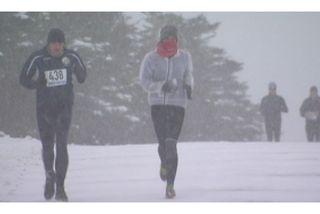 A Saint-Pierre, neige et poudrin pour la première course à pied de la saison