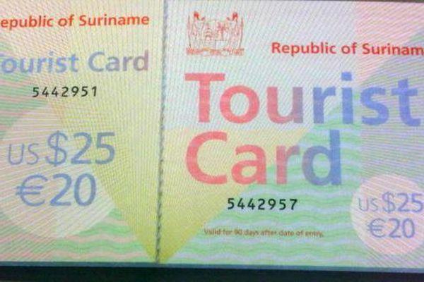 carte touristique surinamaise