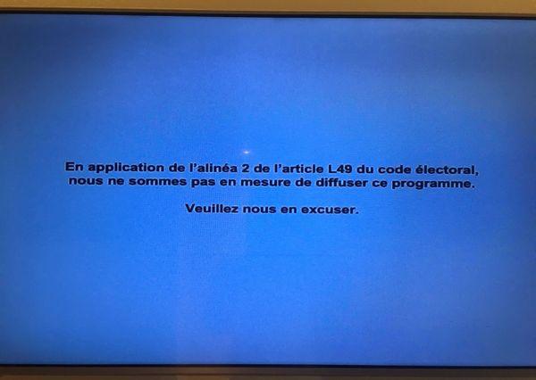 Occultation des chaînes de télé pour le référendum