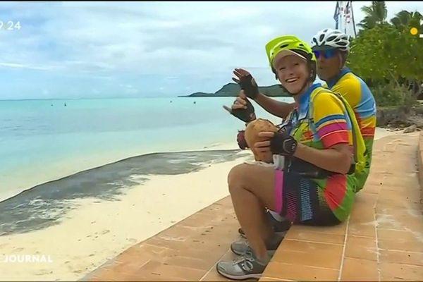 Cyclotourisme à Bora Bora en prologue à La ronde tahitienne