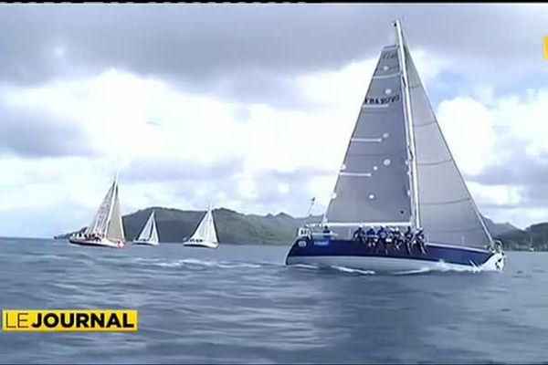 """Agathe"" Vainqueur de la Tahiti Pearl Regatta"