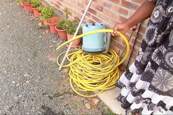 Manque d'eau au lotissement Bellevue de Koné, janvier 2020