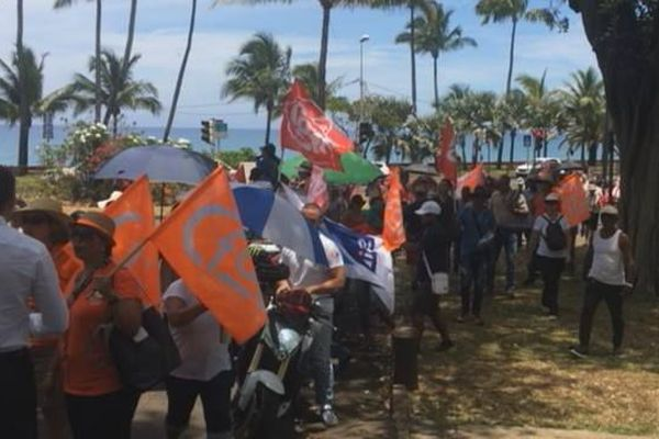 Grève SIDR devant préfecture