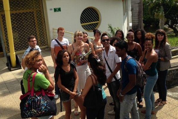 La délégation de lycéens reçue au rectorat