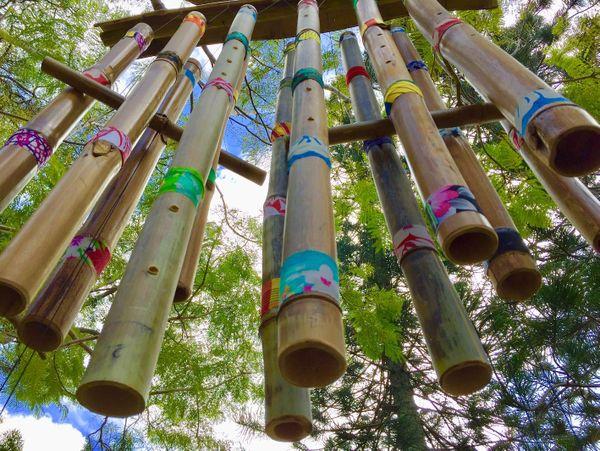 Mois du patrimoine ouvert au château Hagen, carillon en bambou, 24 août 2019