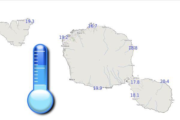 Météo : il a fait 16,7°c à Mahina cette nuit !