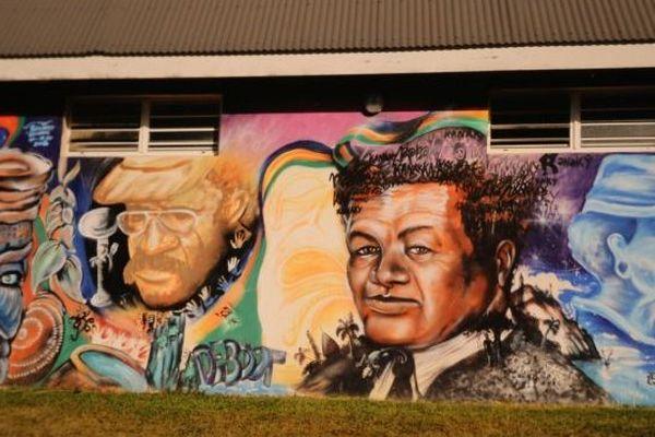 Peinture murale Jean-Marie Tjibaou