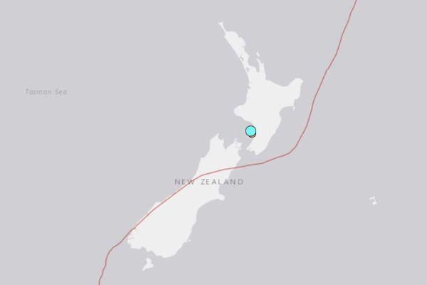 Carte du séisme, USGS, Nouvelle-Zélande, 25 mai 2020