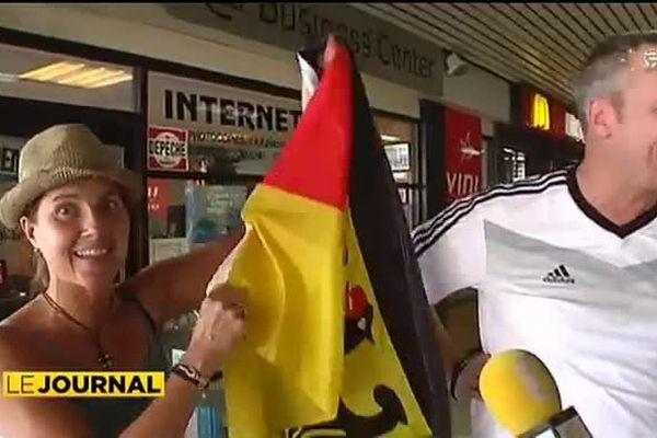 Mondial : les touristes allemands exultent jusqu'à Tahiti