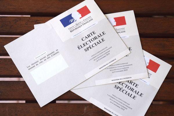 Cartes électorales spéciales pas arrivées à destination, octobre 2018.