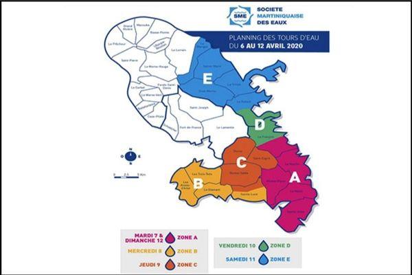 Carte coupures eau SME