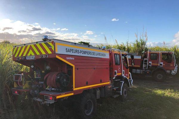 Les pompiers mobilisés en nombre sur un feu de cannes