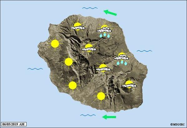 Carte météo du 6 mai 2019