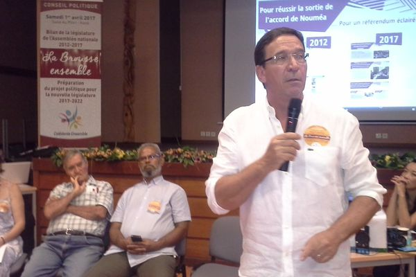 Philippe Gomès. Conseil politique Calédonie Ensemble Koné