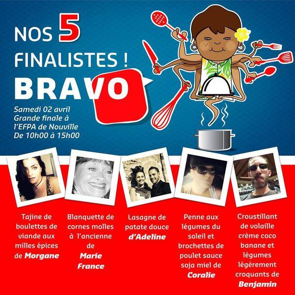 Concours cuisine finalistes