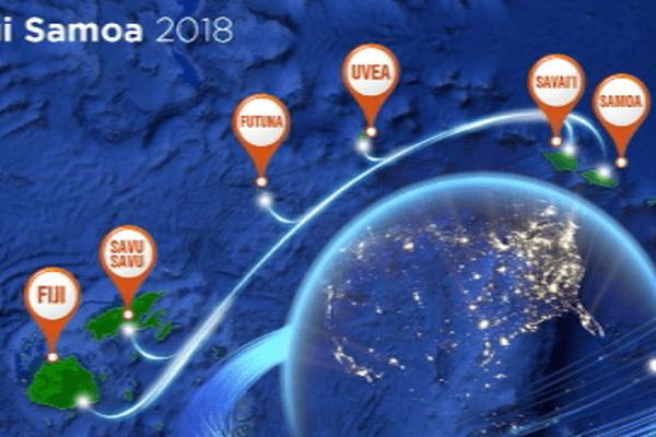 Le parcours du câble Tuisamoa