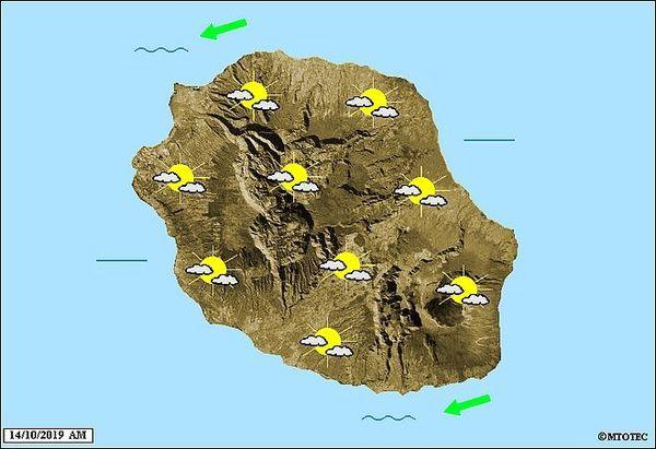 Carte météo 14 octobre 2019