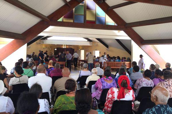 Messe en mémoire d'Hilarion Vendégou, centre funéraire de Nouméa, 14 janvier 2020
