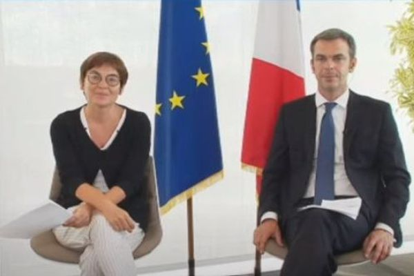 Annick Girardin, ministres des Outre-mer et Oilivier Véran, ministre des Solidarités et de la Santé