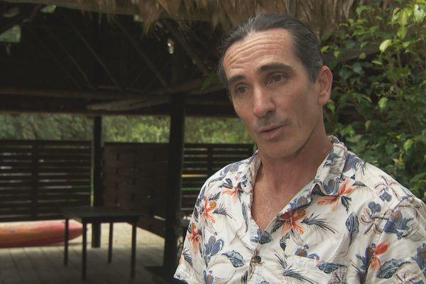 Thomas Saunier gérant des camps Maripa et Cariacou (Kourou), président de la compagnie des guides