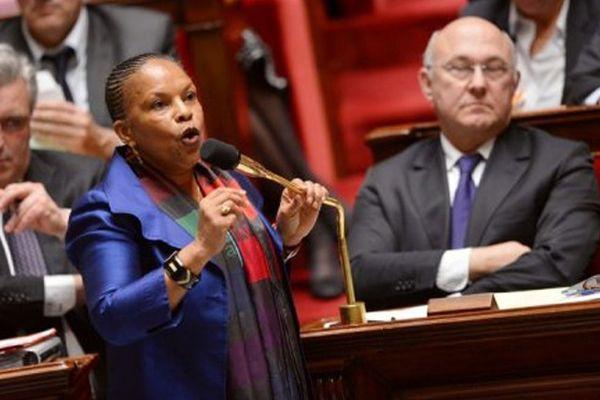 Christiane Taubira, le 20 février 2013 à Paris, Assemblée nationale