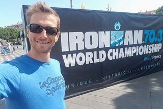 Mathieu Szalamacha s'approche de la finale mondiale des Half Ironman.