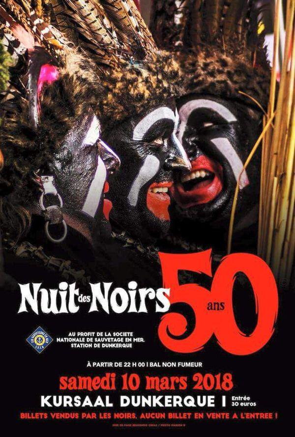 """Affiche Dunkerque """"Nuit des noirs"""""""