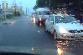 Forte pluie à l'île Maurice