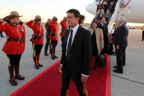 Manuel Valls au Canada avant son arrivée à Saint-Pierre-et-Miquelon