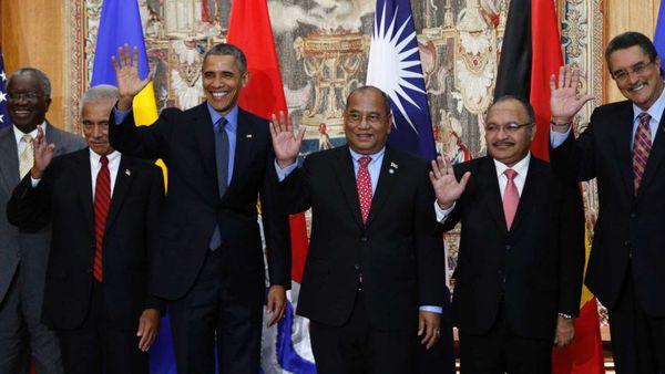 Lors de la COP21, des chefs d'État du Pacifique s'étaient entretenus avec le président américain, Barack Obama.