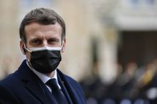 Emmanuel Macron au palais de l'Elysée, à Paris, le 16 décembre 2020.