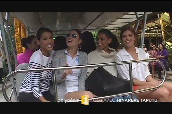 Hinarere Taputu, Miss World France et ses amies candidates à l'élection Miss World