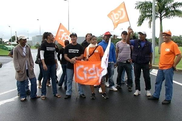 Les grévistes de Carrefour Ste-Suzanne