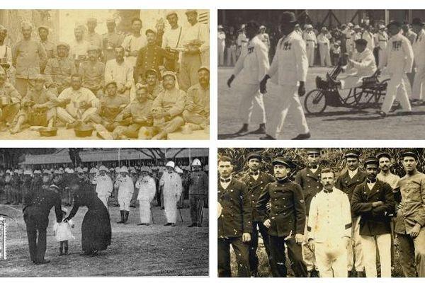 Photos d'archives de l'amicale des Anciens combattants.