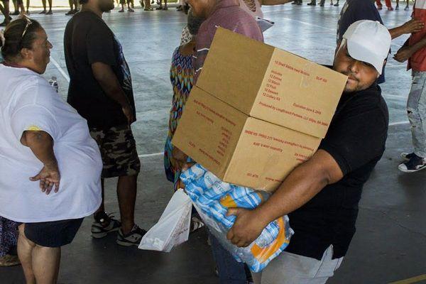 Porto Rico distribution de vivres
