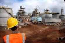 Usine du Sud (Goro Resources) en Nouvelle-Calédonie. Du nickel et du cobalt pour la transition énergétique.