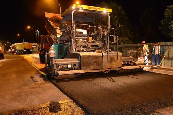 Le chantier de la 2X2 voies entre Fautaua et Pirae avance