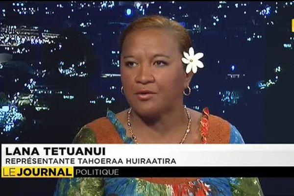 Invitée du journal : Lana Tetuanui, représentante Tahoeraa Huiraatiraa à l'Assemblée