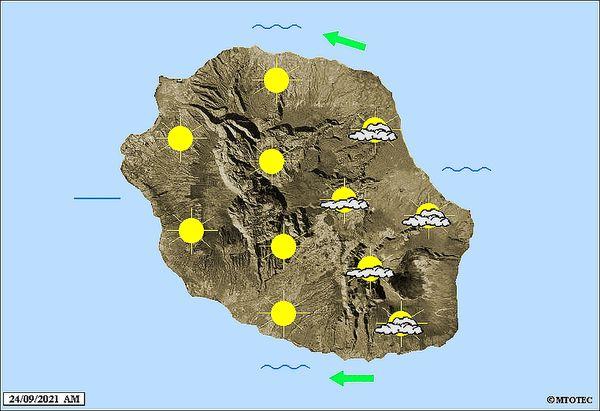 Carte météo 24 septembre 2021