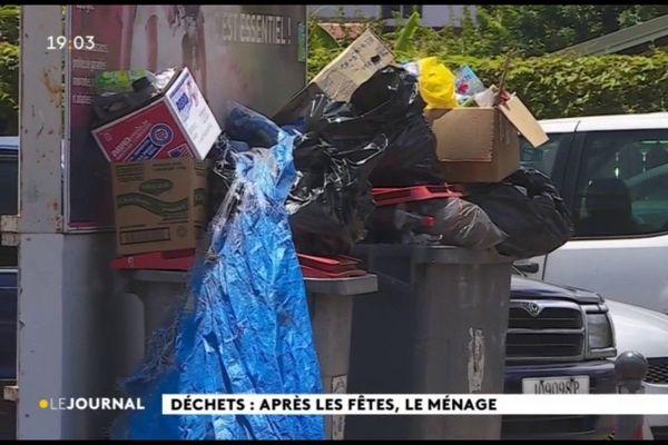 Lendemains de fête : les poubelles débordent…