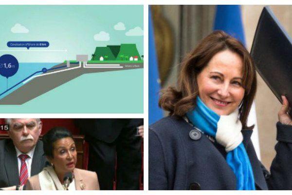 Le projet de SWAC à La Réunion, Huguette Bello à l'Assemblée nationale et Ségolène Royal à l'Elysée en mars 2016