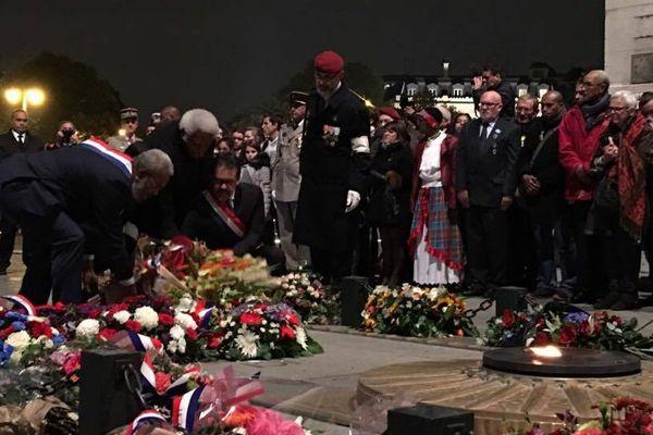 Cérémonie d'hommage au soldat Kalepo