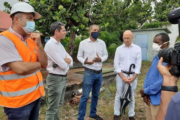 Point sur l'opération coup de poing, lutte contre fuites d'eau, Préfet à Goyave