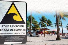 Projet de mise en place de panneaux d'information sur le risque tsunami.