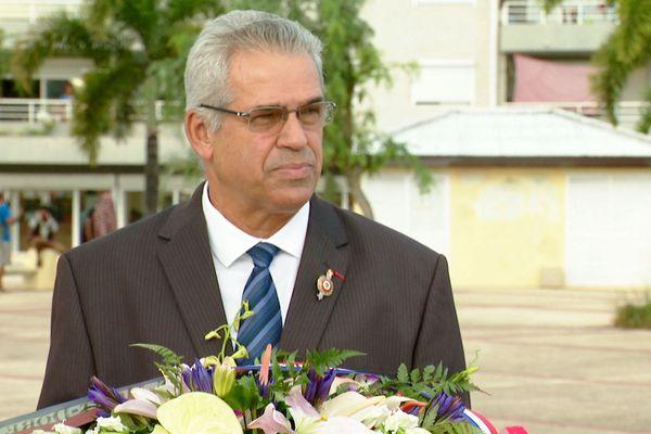 Eric Gay juste après l'annonce de sa démission comme maire, 21 mars 2019
